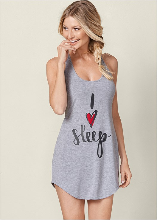 LACE BACK SLEEP DRESS