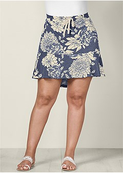 plus size flounce lounge skirt
