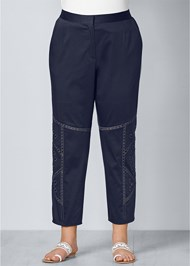 Front View Eyelet Detail Pants