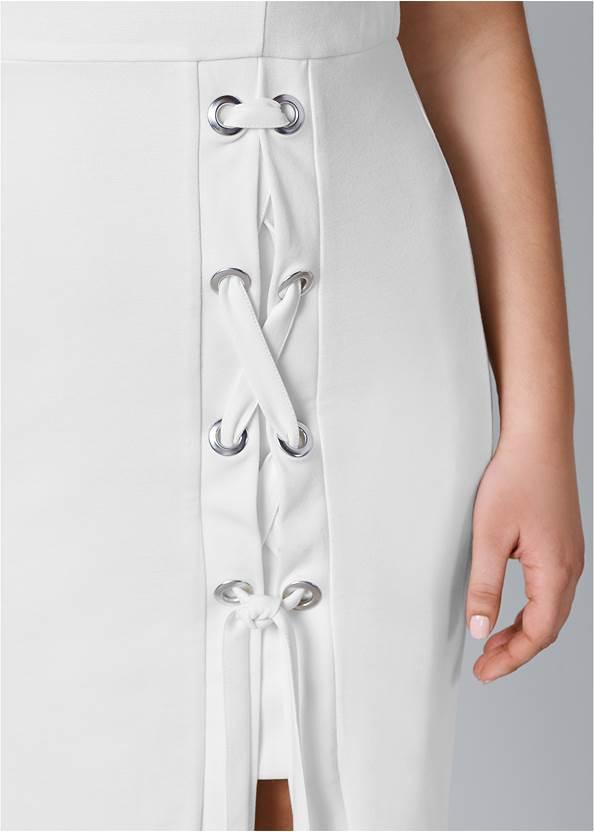 Alternate View Lace Up Detail Sleeveless Dress