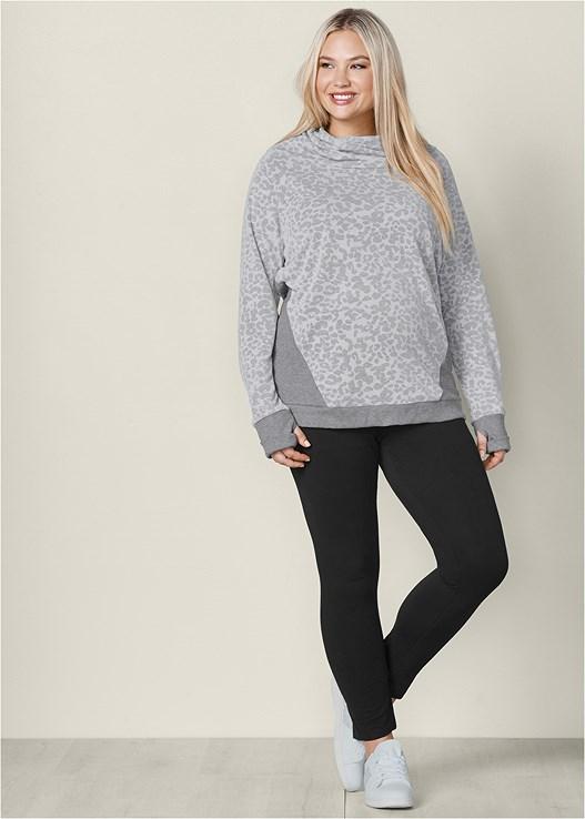 Plus Size Cowl Neck Sweatshirt Venus