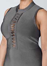 Alternate View Bandage Mock Neck Dress