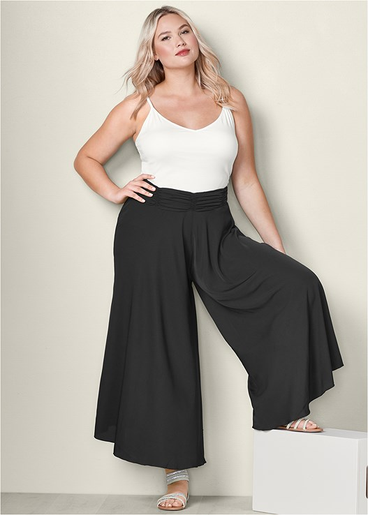 WIDE LEG PANTS,BASIC V-NECK TANK