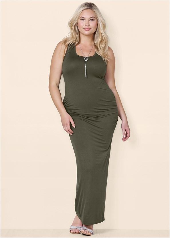 Ruched Tank Maxi Dress