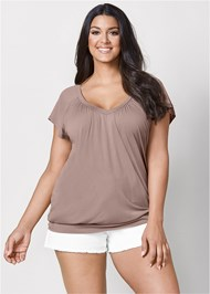 Plus Size Relaxed V-Neck Top