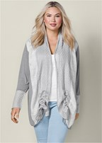 plus size cozy long cardigan