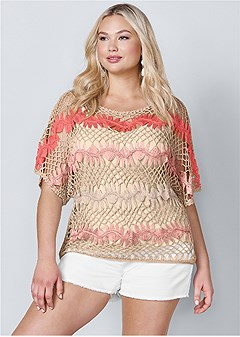 plus size multicolored sweater