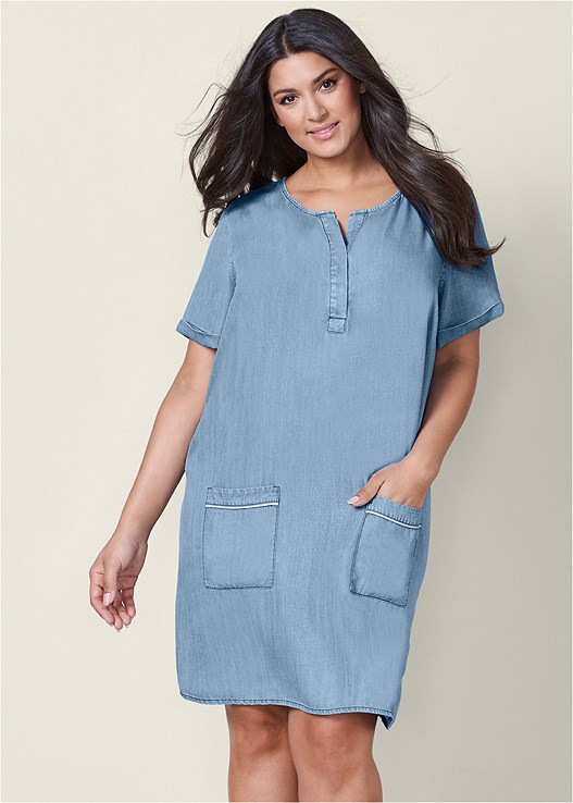 Plus Size Jean Dresses - Dress Foto and Picture