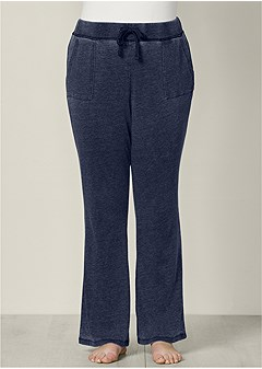 plus size mineral wash lounge pants