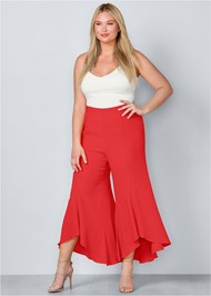 Plus Size Ruffle Hem Pants