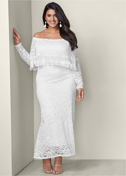 Plus Size Lace Maxi Dress Venus
