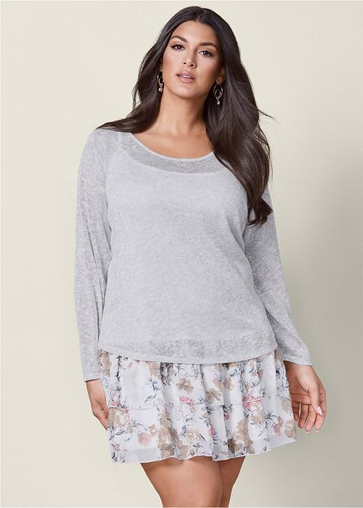 Plus Size Layered Sweater Dress Venus