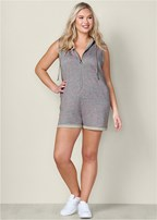 plus size french terry romper