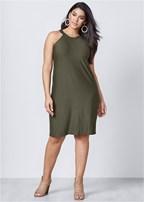plus size casual a-line dress