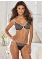 Front view Contrast Lace Unlined Bra