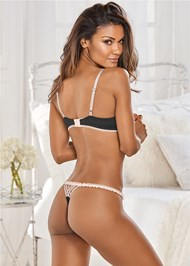 Back view Contrast Lace Unlined Bra