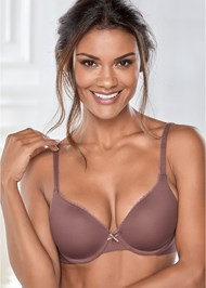Front View Naked T-Shirt Bra
