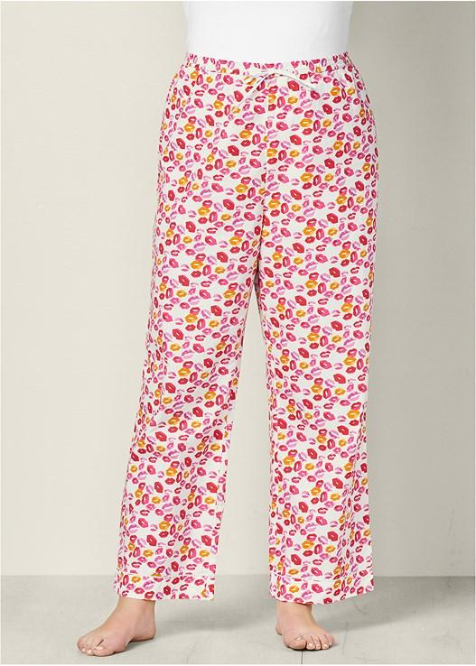 b631d6ee56 Pink Multi DRAWSTRING SLEEP PANT from VENUS