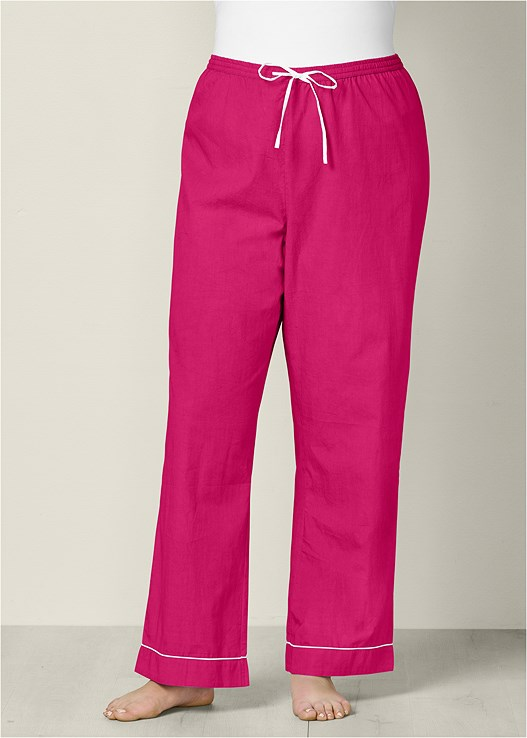 14913d26a3 Pink DRAWSTRING SLEEP PANT from VENUS