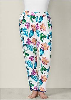 plus size printed sleep pant