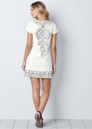 Back View Embellished Mini Dress
