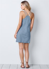 Back view Chambray Mini Dress