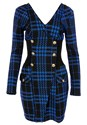 Alternate View Plaid Button Detail Dress