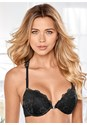 Front View Lace Back Push Up Bra
