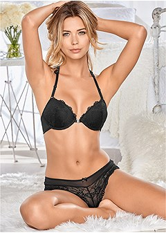 lace front bikini panties