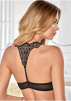 lace back push up bra