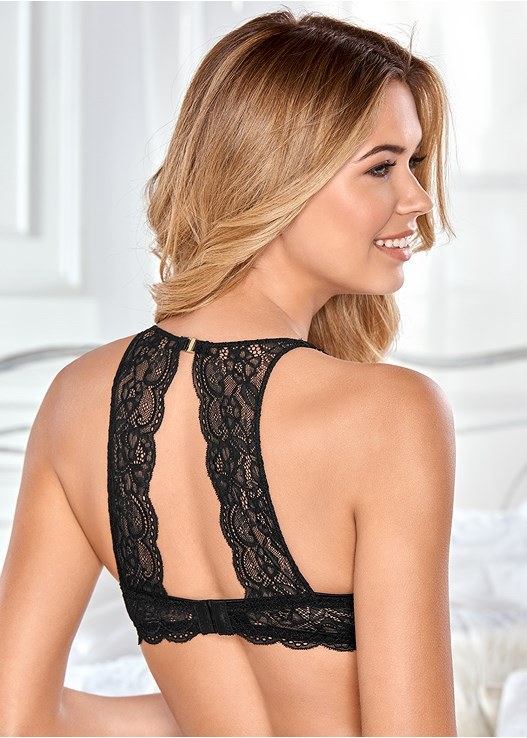 EVERYDAY YOU LACE BACK BRA,LACE BACK CHEEKY PANTY