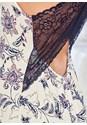Alternate View Paisley Print Lace Chemise