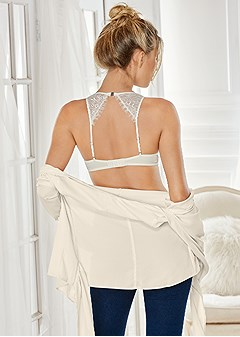 open back push up bra