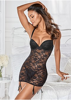 all lace negligee