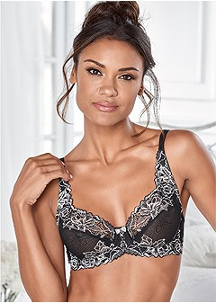 all lace full coverage bra