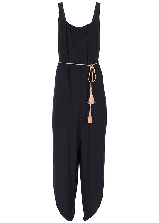 bb909f68758e Black BELTED JUMPSUIT from VENUS
