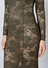 Alternate View Sheer Lace Detail Dress