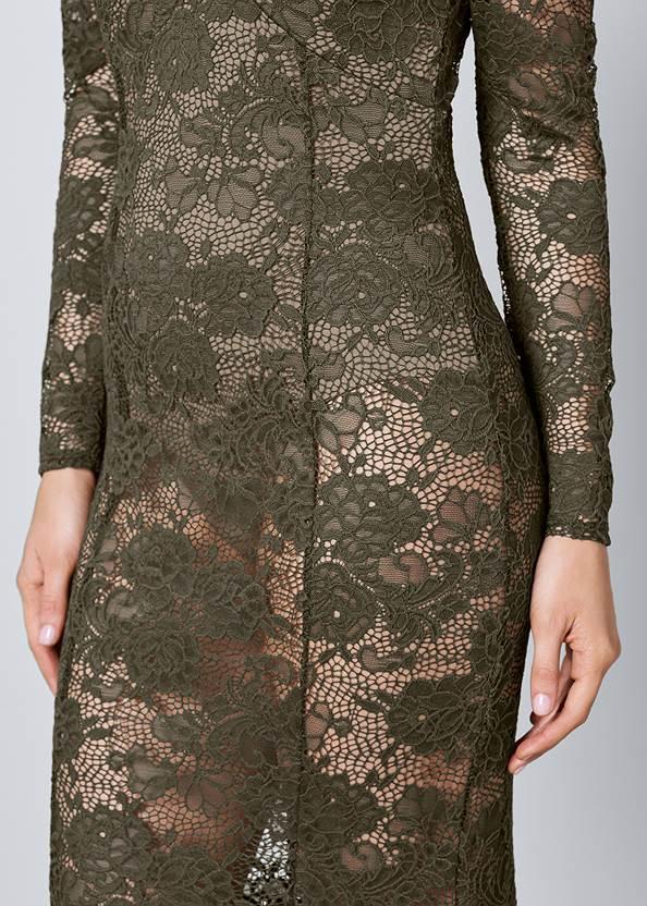 Alternate View Sheer Lace Detail Dress