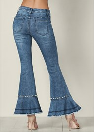 Back View Pearl Detail Jeans