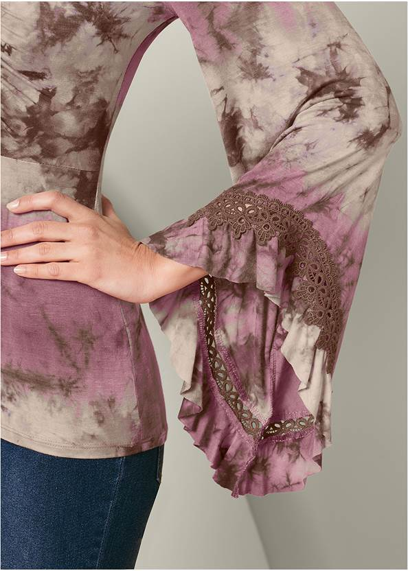 Alternate View Tie Dye Lace Up Top