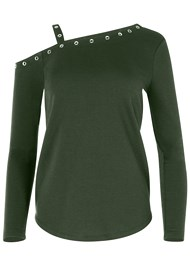 Alternate View Grommet Detail Sweatshirt