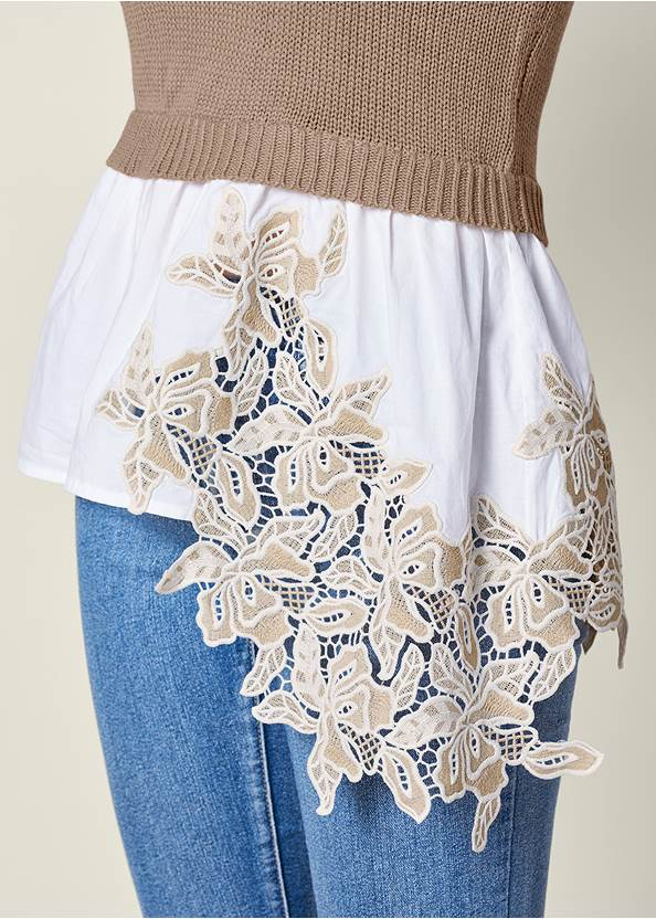 Alternate View Applique Detail Sweater