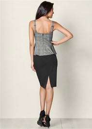 Back View Lace Up Peplum Top