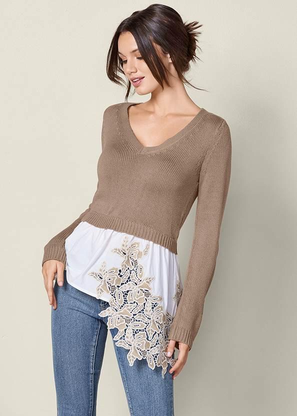 Front View Applique Detail Sweater