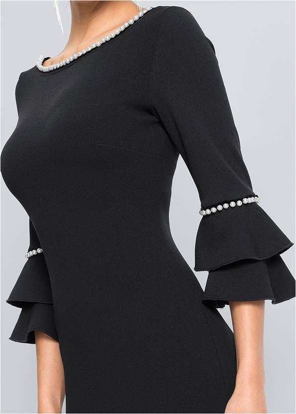 Alternate View Pearl Tiered Sleeve Dress
