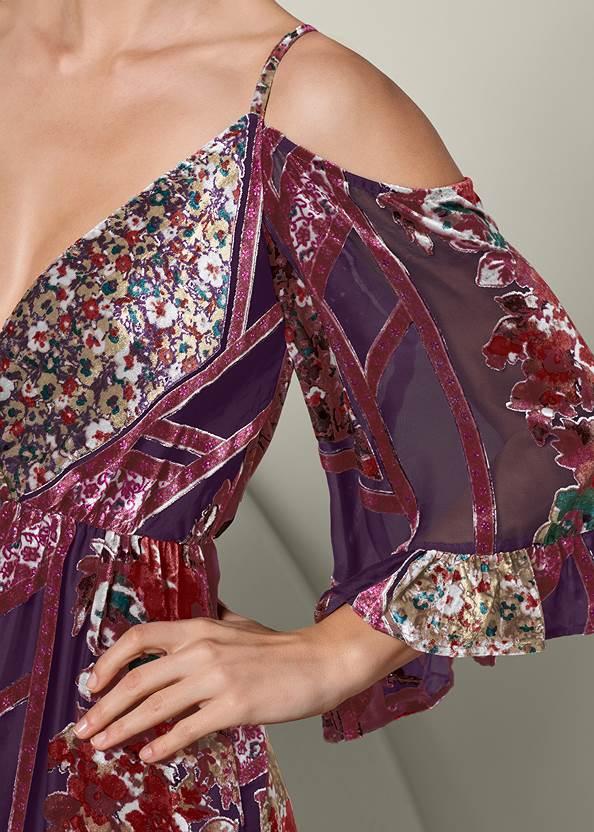 Alternate View High Low Velvet Dress