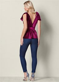 Back View Pleated Velvet Top