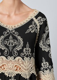 Alternate View Embroidered Detail Top
