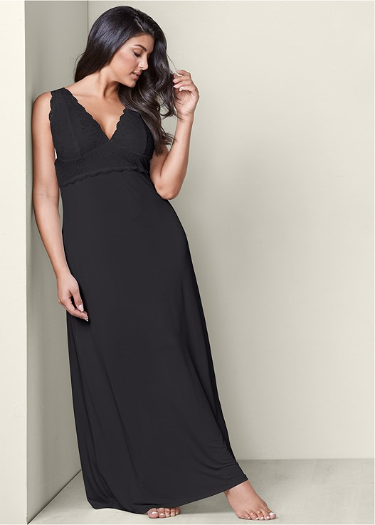 LACE DETAIL NIGHTGOWN