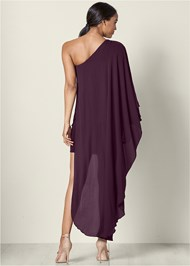Back View One Shoulder Dress